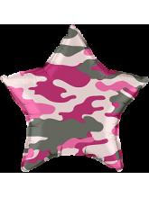 Звезда  Камуфляж розовая