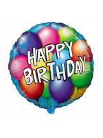 """Круг """"Happy Birthday"""" (воздушные шарики)"""
