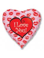 """Сердце """"I love you"""" (губки)"""