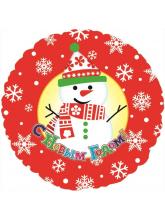 Круг С Новым Годом (снеговик)