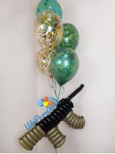 Фонтан из 5 шаров с автоматом