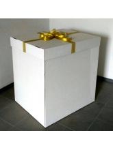Коробка для шаров без надписи с бантом
