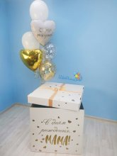"Коробка-сюрприз с шарами ""Салют"""