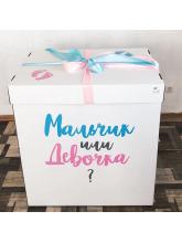 """Коробка с шарами """"Мальчик или девочка"""""""