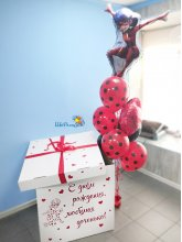 """Коробка-сюрприз с шарами """"Леди Баг"""""""