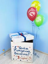 """Коробка-сюрприз с шарами """"Дино"""" (60х60х70 см)"""
