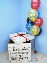 "Коробка-сюрприз с шарами ""Человек-паук"" (70х70х70см)"