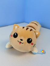 Мягкая игрушка Котик лежачий 60 см рыжий