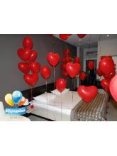 Оформление комнаты на День Влюблённых