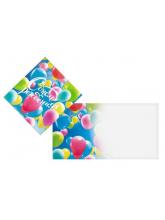 Мини-открытка С Днём Рождения (шарики)