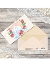 Конверт для денег «Неразлучные голуби», 16,5 × 8 см