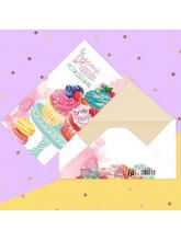 Конверт для денег «Чудесного дня рождения» пирожное, 16,5 х 8 см