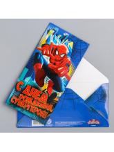 Конверт для денег «С днем рождения, Супергерой!», Человек-Паук, 16,5 × 8 см