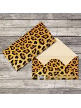 Конверт для денег «Леопард», 16,5 × 8 см