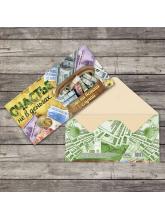 Конверт для денег «Счастье не в деньгах», 16,5 × 8 см