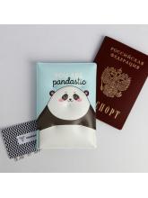 """Воздушная паспортная обложка-облачко """"Hello pandastic winter"""""""