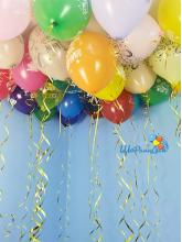 """Набор из 30 шаров """"С днём рождения"""" (россыпью под потолок)"""