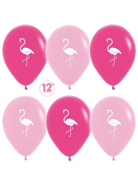 Гелиевый шар Фламинго