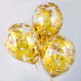 Шар с конфетти (золотые круги)