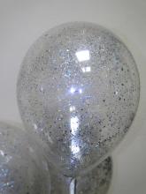 Шар с конфетти (стружка серебро)