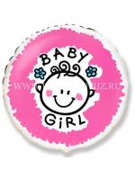 Круг розовый Baby girl