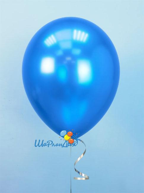 Гелиевый шар Синий (металлик)