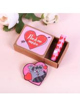 Значок в коробочке «Люблю тебя», 5 х 4 см