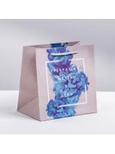 Пакет крафтовый квадратный «Превращай мечты в цели», 22 × 22 × 11 см