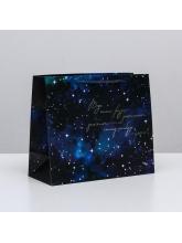 Пакет ламинированный горизонтальный «Звёзды», 27 × 23 × 11,5 см
