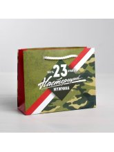Пакет ламинированный горизонтальный «Честь и Отвага» 15х12х12,5 см