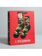 "Пакет подарочный ""Носки"" 18х23х8 см"