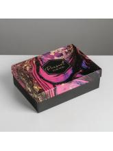 Коробка складная «Текстуры», 21 × 15 × 7 см