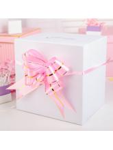 Бант-бабочка №4.5, розовый