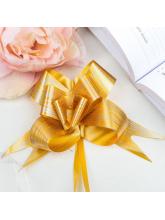 """Бант-бабочка №5 """"Линии"""", цвет золотой"""